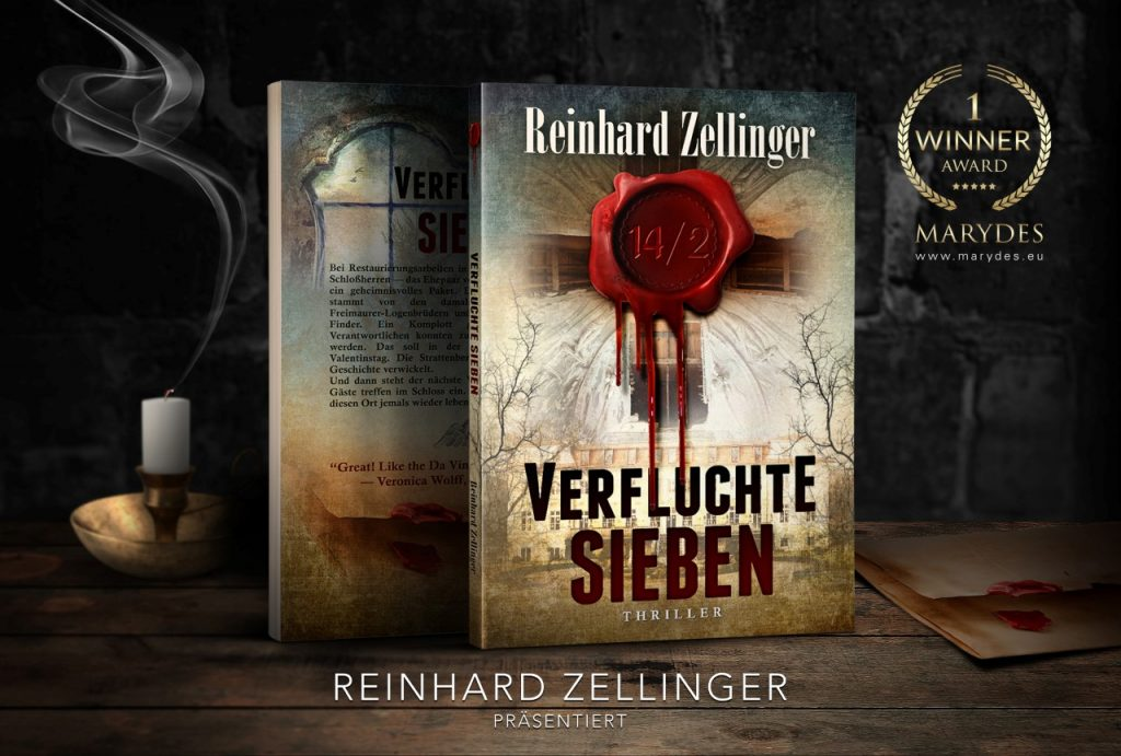 Verfluchte Sieben door Reinhard Zellinger. Cover gemaakt door MaryDes Designs.